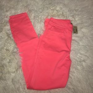 Hot pink skinny jeans size 6